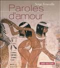 Paroles d'Amour dans l'Egypte ancienne