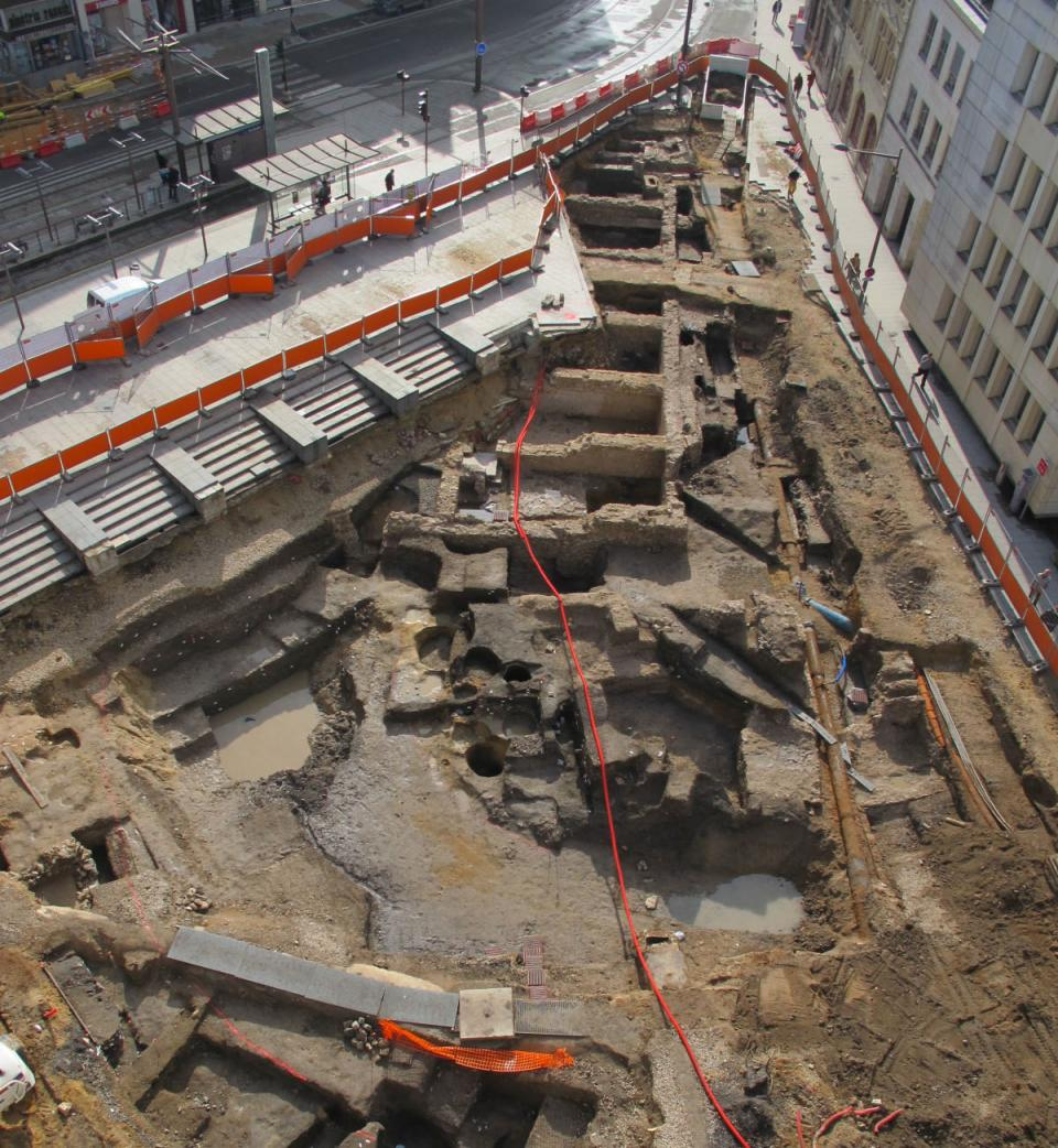 Premiers résultats des fouilles de la 2nde ligne de tramway à Orléans