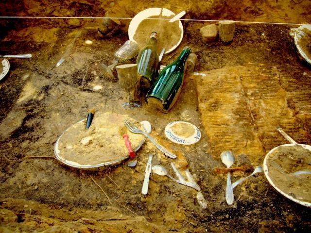 l'archéologie dans l'art contemporain