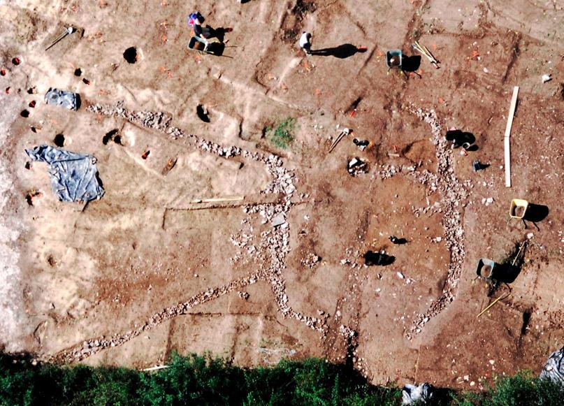 Des vestiges d'un habitat de l'âge du Bronze