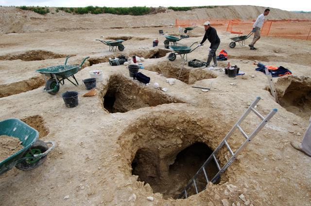 Les fouilles de l'autoroute A88