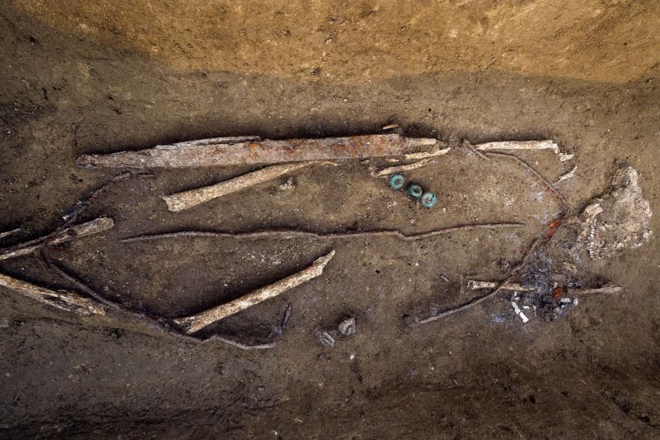 Des enclos bien visibles dans le paysage de l'âge du Bronze