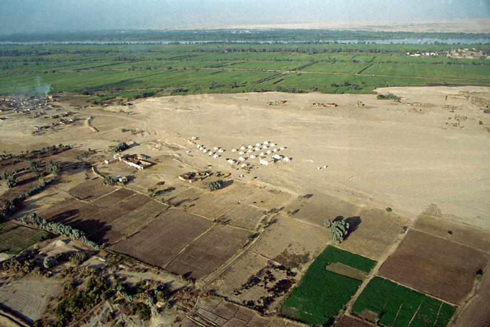 vue générale du site en 2001