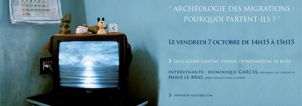 Visuel Archéologie des migrations, colloque de Blois 2016