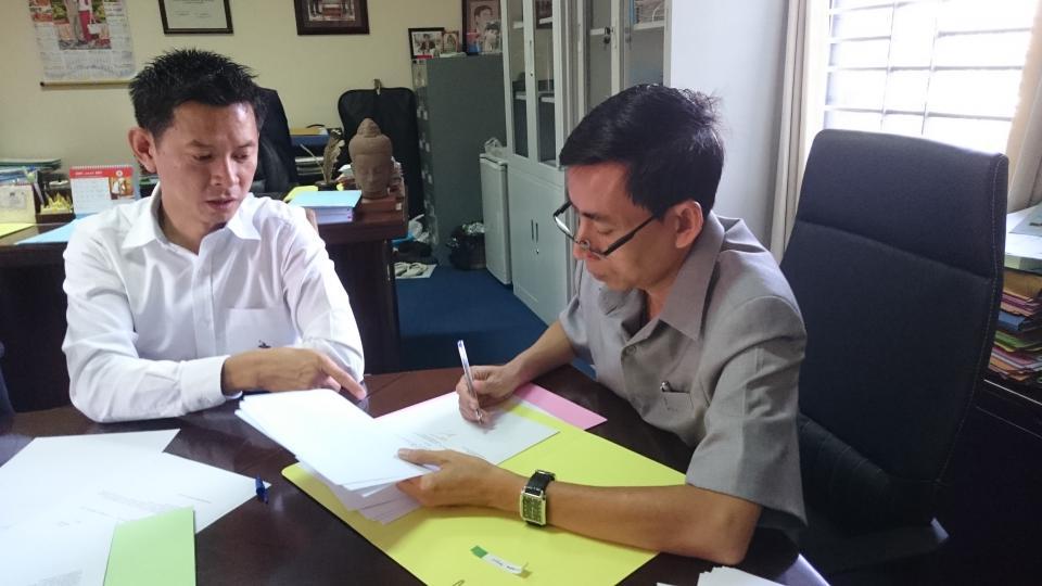 Signature convention France-Cambodge, 31 décembre 2016