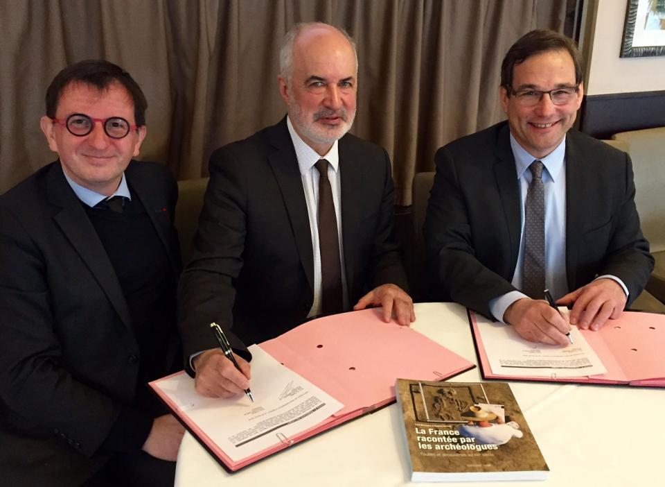 La Fédération des EPL et l'Inrap renouvellent leur accord de partenariat, 2018