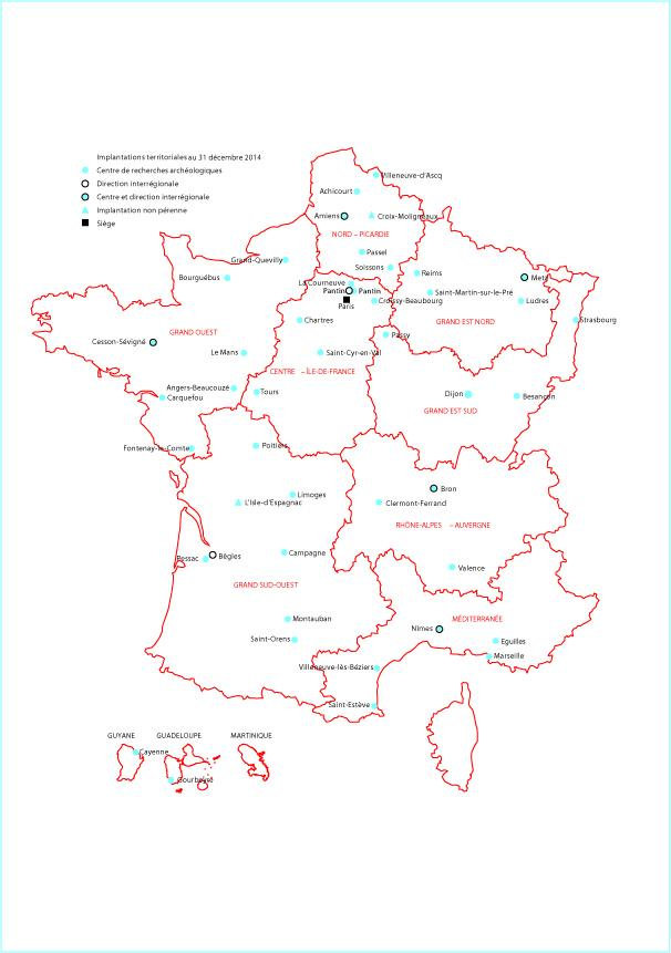 9-2-2 Carte des implantations fin 2014