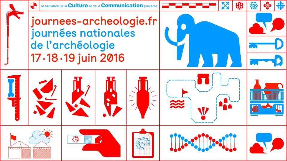 Affiche des Journées nationales de l'archéologie 2016