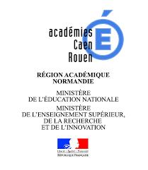 Logo académies Caen Rouen
