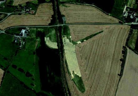 DAP 4 | La Grande Ragée : photo aérienne du site après décapage