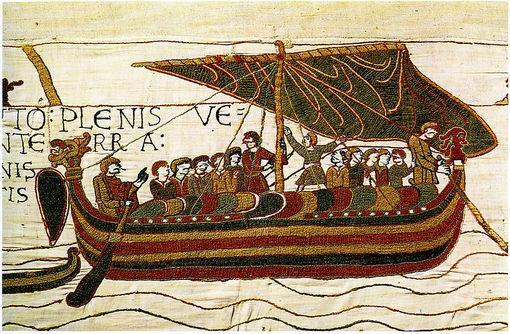 La flotte normande, tapisserie de la Reine Mathilde, à Bayeux