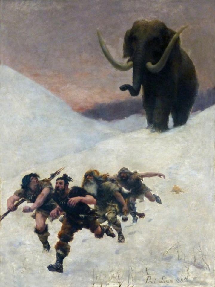 La fuite devant le mammouth (1885)