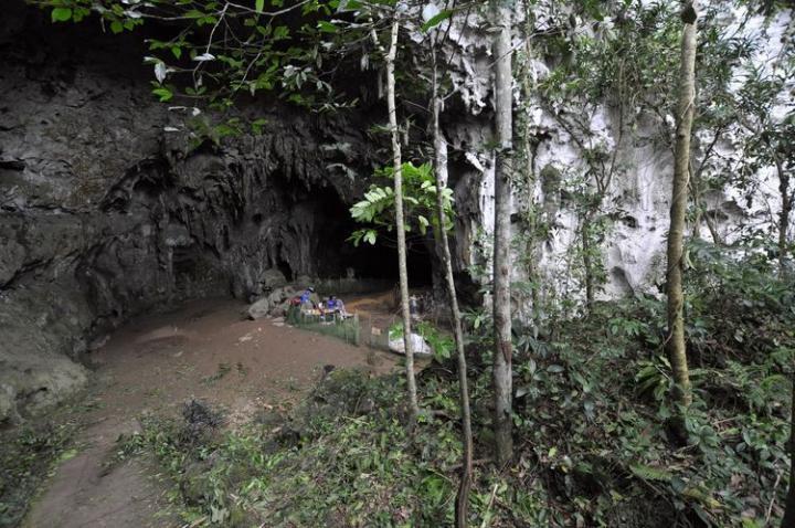 La grotte de Callao, sur l'île de Luçon, où ont été découverts (entre 2011 et 2015) des restes d'Homo luzonensis