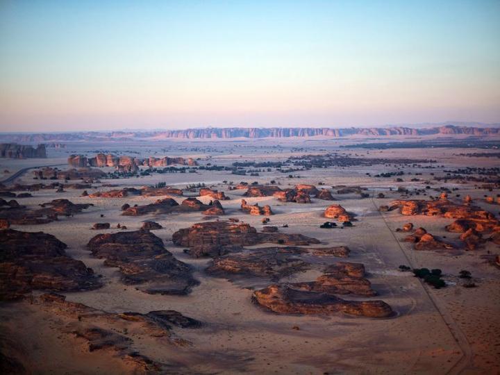 Vue générale de la vallée d'Al-'Ulâ (Arabie Saoudite)