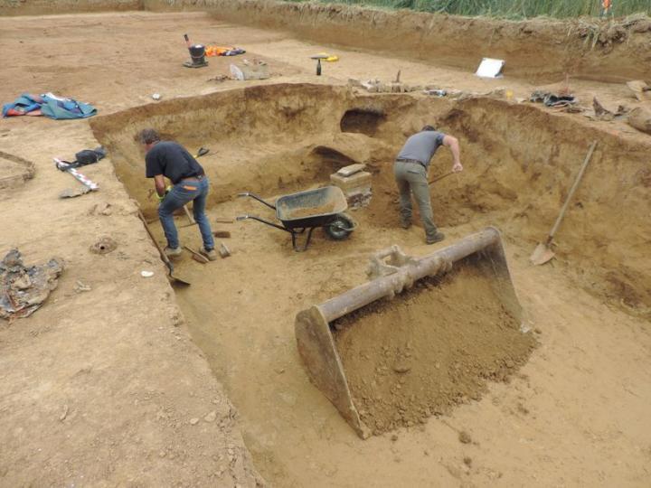 Chantier de fouilles du site de Bretteville sur Odon (Calvados)