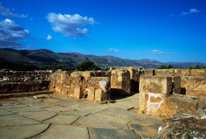 Crypte des piliers du palais de Malia (Crête) - civilisation Minoenne