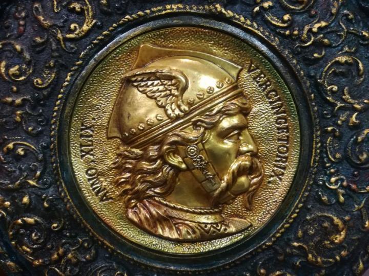 Médaillon de plat (années 1890)