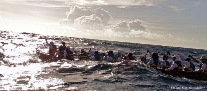 Navigation expérimentale entre les îles des Antilles en Kanawa (mai 2010)