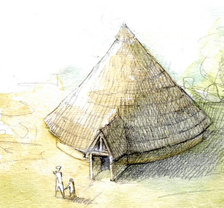 6-5-4 Esquisse d'un bâtiment caractéristique de la fin de l'âge du Bronze