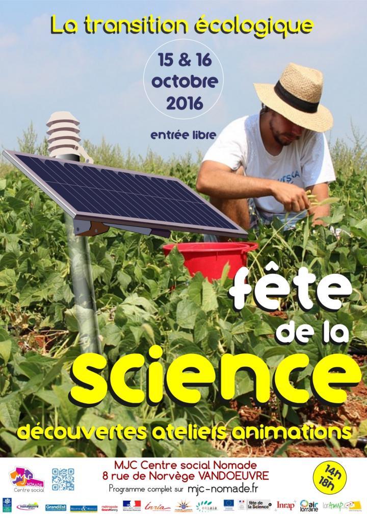 Affiche Fête de la science 2016, Vandoeuvre-lès-Nancy