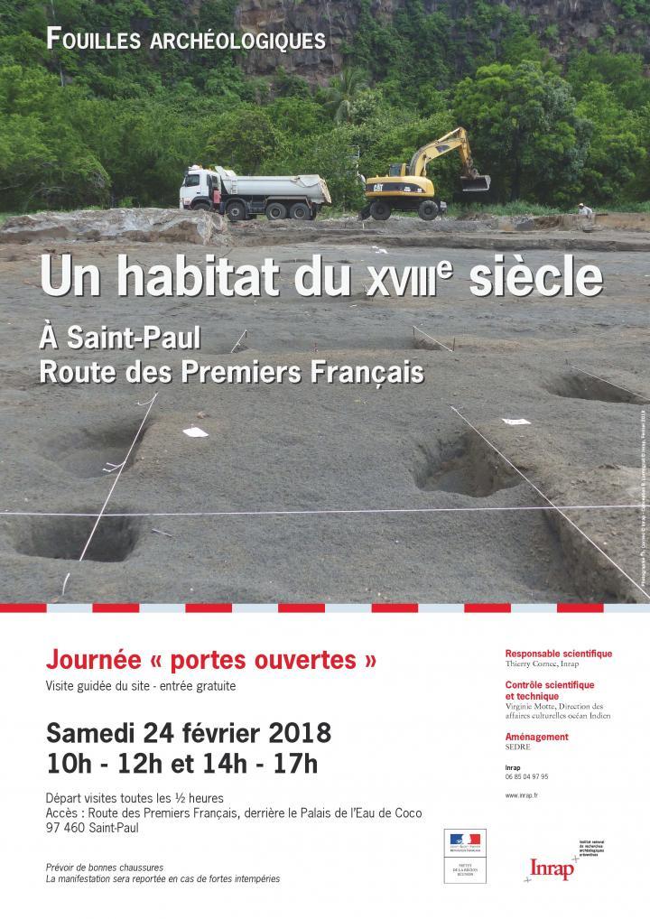 Affiche JPO Saint Paul routes des premiers français