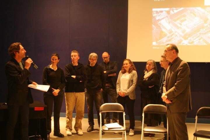 Remise du rapport final d'opération au musée de Bretagne, à Rennes, le 15 mars 2017