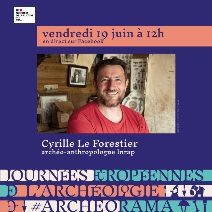 Cyrille Le Forestier, archéo-anthropologue, présente  l'atelier  « Étudier les morts pour comprendre la vie »
