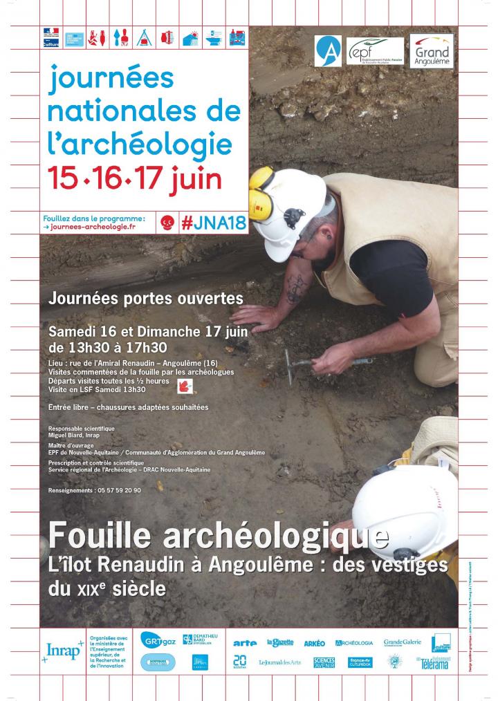 Affiche des JPO de la fouille à Angoulême