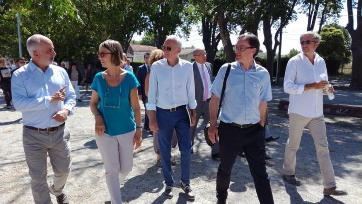 Françoise Nyssen, ministre de la Culture, et Dominique Garcia, au Cailar pour les Journées nationales de l'archéologie