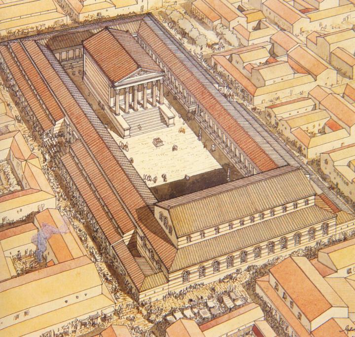 Le forum de la ville de Lutèce
