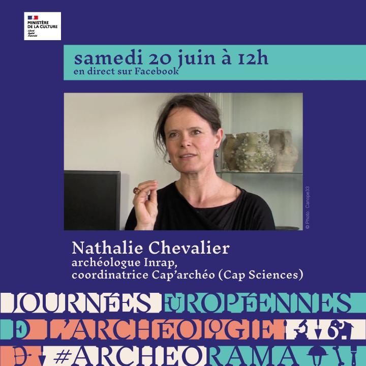 Nathalie Chevalier, archéologue à l'Inrap et coordinatrice de Cap'Archeo, présente l'atelier « Faire parler les vestiges ».