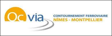 Logo Oc Vià Contournement ferroviaire Nîmes-Montpellier