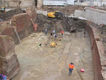 Mise au jour des vestiges du château médiéval des Comtes de Toulouse