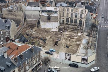 Premiers résultats des fouilles de la médiathèque Cathédrale à Reims