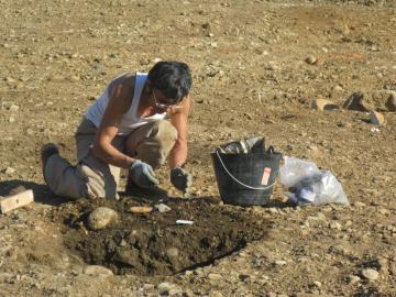 Claira, visite de la fouille archéologique