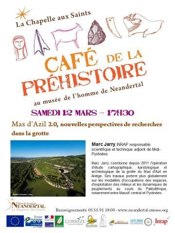 Affiche conférence Marc Jarry Neandertal Chappelle aux Saints