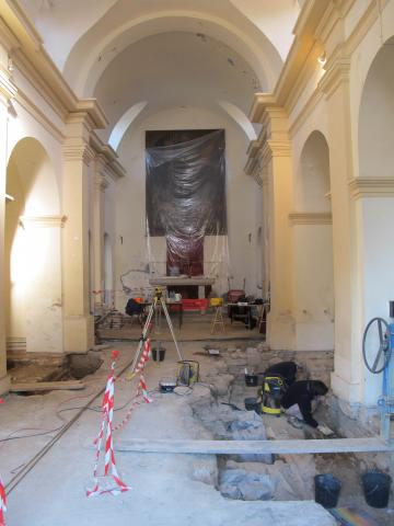 Fouille archéologique dans l'église San Marcello d'Aléria