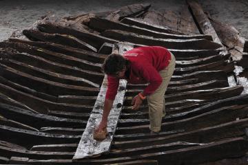 Une épave romaine dans le port antique d'Antibes