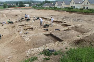 La maison du villicus en cours de fouille