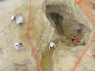 Maillé, les découvertes archéologiques sous la future LGV Tours - Bordeaux
