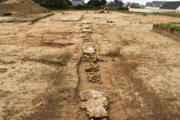 Mise au jour d'un quartier de la ville gallo-romaine de Portbail