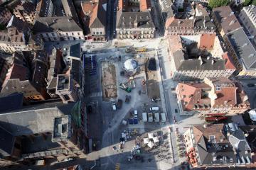 Recherches archéologiques place d'Armes à Belfort : mise au jour des vestiges de la ville moderne