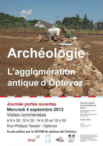 Journée portes ouvertes mercredi 4 septembre 2013 : L'agglomération antique d'Optevoz (Isère)