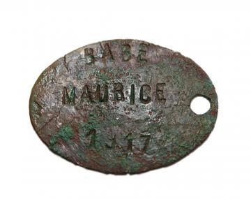 Un hommage à Maurice Babé, poilu découvert sur une fouille archéologique du canal Seine-Nord Europe