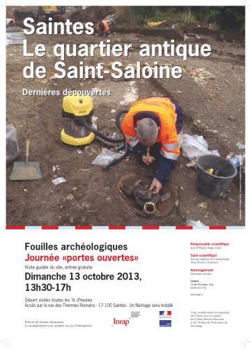 L'Inrap fête la science à Saintes : visite guidée d'un chantier de fouilles archéologiques dimanche 13 octobre 2013
