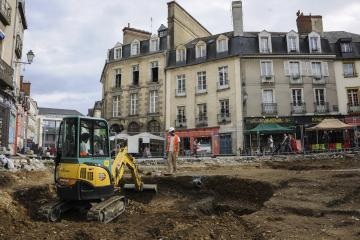 Archéologie place Sainte-Anne à Rennes : d'importants vestiges de l'époque gallo-romaine et le cimetière de l'ancien hôpital