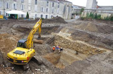 Une fouille archéologique préventive au coeur de la ville antique de Saintes