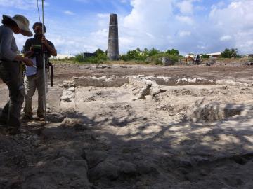 La sucrerie de Grand Fond,  1ère fouille préventive à La Réunion