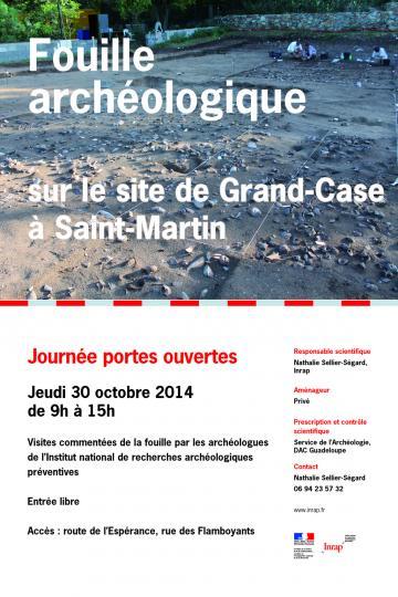Journée portes ouvertes jeudi 30 octobre 2014  Fouille archéologique sur le site de Grand-Case Nord à Saint-Martin