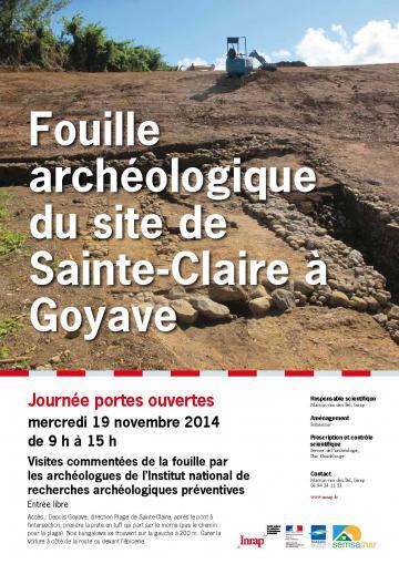 Journée portes ouvertes mercredi 19 novembre 2014 : Fouille archéologique sur le site de Sainte-Claire à Goyave, en Guadeloupe